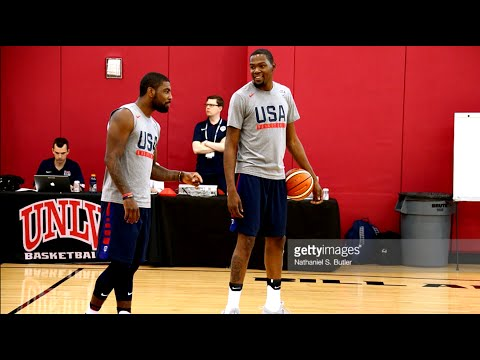Kevin Durant & Kyrie Irving Battle To See Who Can Make The Most 3 Pointers.HoopJab