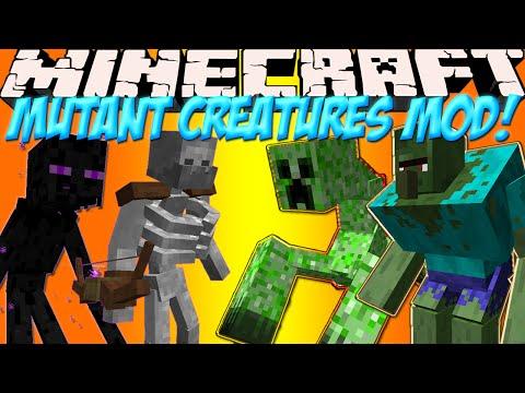 Мобы Мутанты в Minecraft!Обзор мода Minecraft Mutant Creatures