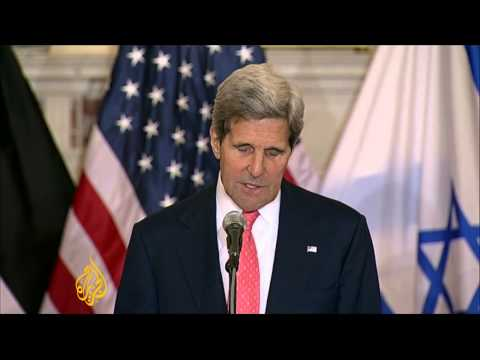 US Secretary John Kerry spoke after peace talks