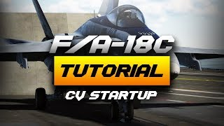 DCS World 2.5 F/A-18C Realistic Carrier Startup Procedure