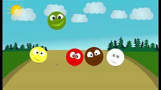 Цветные мячики. Учим цвета. Развивающие мультфильмы.