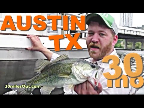 30milesOut.com -  KAYAK BASS FISHING  AUSTIN TEXAS town lake, ladybird lake