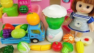 Baby doll fruit vegetable juice maker cooking toys baby doli play