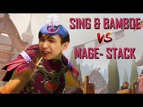 SING & BAMBOE STACK VS MAGE- STACK (SingSing Dota 2 Highlights #1077)