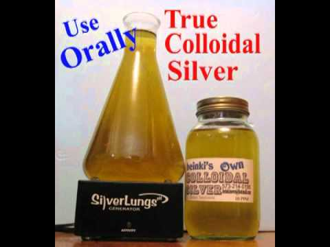 Mario Cifaldi . Maker of the Silver Lungs generator talks about colloidal and ionic silver