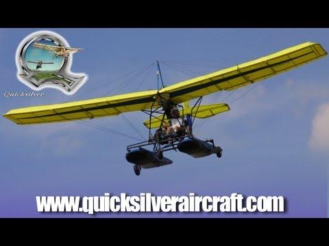 Quicksilver Aircraft, Quicksilver Aeronautics, Quicksilver Sport 2S on Puddle Jumper Floats.