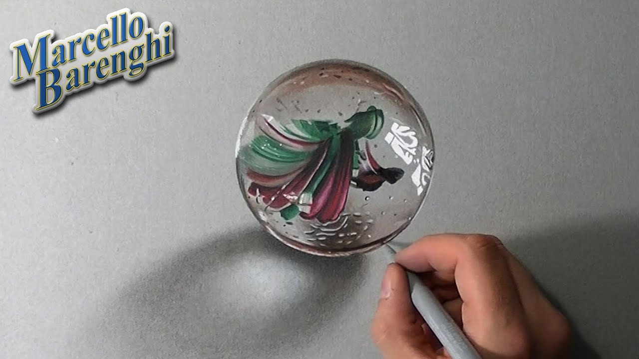 Crazy Realistic Drawing A Marble Or Glass Ball Youtube