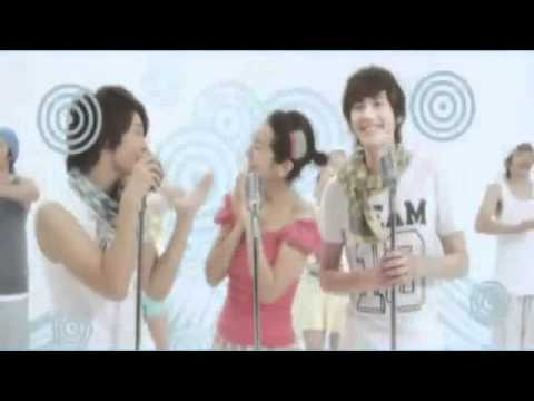 [HD] Dong Hae & Kyu Hyun (Super Junior) Feat. Han Ji Min- Happy Bubble CF MV