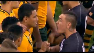Fiery Haka at Australia & NZ's Under-20s Rugby League 2014