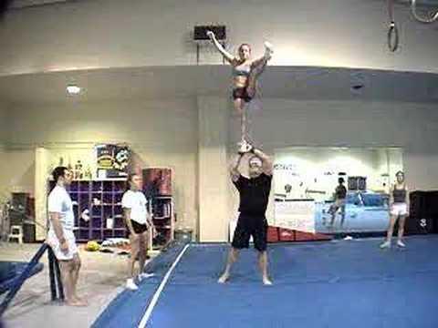 Partner Stunts For Beginners Casey Page Partner Stunt