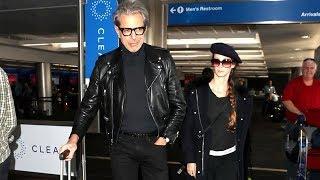 Incredibly Gracious Jeff Goldblum Greets Fans At LAX