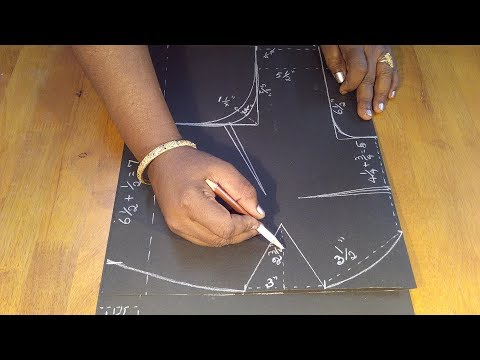 Basic lining blouse cutting with full measurements part-1