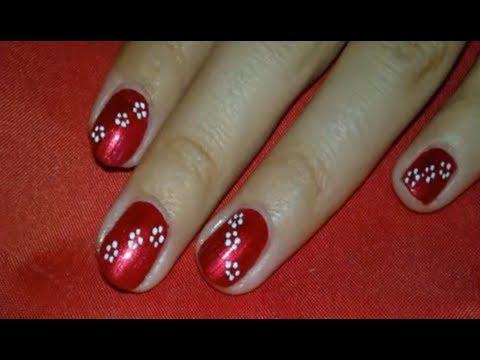 Diseño facil de uñas(5º)/Easy nail art tutorial//Español.English//