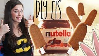 DIY: cremiges NUTELLA EIS am Stiel - Rezept (super leicht) + VERLOSUNG