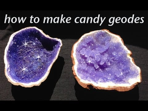 Rock Candy Edible Geode HOW TO cook that Rock Candy Recipe Ann Reardon