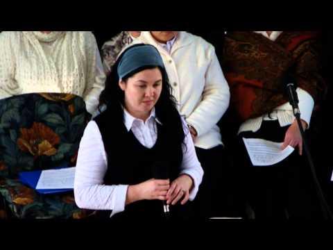 Ольга Вельгус в церкви Евангельский путь Макеевка