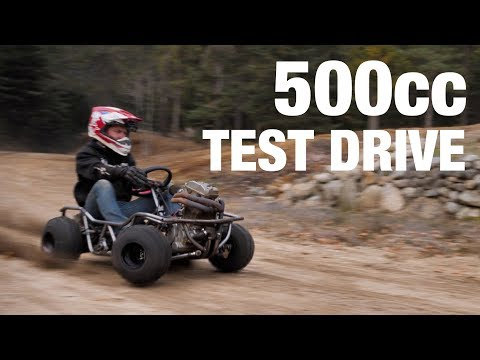 First Test Drive! 500cc Off-Road Go Kart
