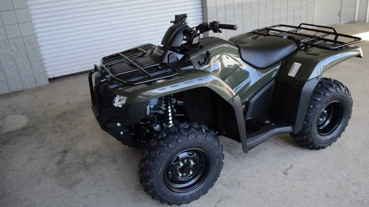 2014 TRX420FM2E Rancher 420 Foot Shift + Power Steering ATV SALE / Honda of Chattanooga TN - YouTube