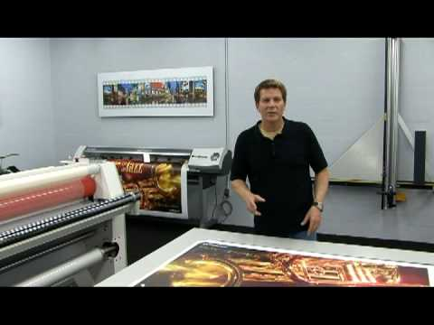 Mounting Large Format Prints made easy