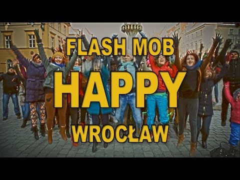 FLASH MOB HAPPY Wrocław POLAND