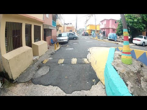Gopro Exploring Biker Hd   The Streets Of La Perla, Puerto Rico
