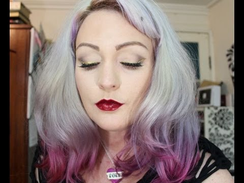 From Tired to Party Ready- Neutrals, Glitter & Red Lips