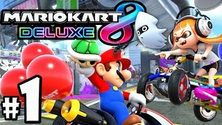 Mario Kart 8 Deluxe PART 1 - Switch Gameplay Walkthrough - NEW Battle Mode, Splatoon Inklings