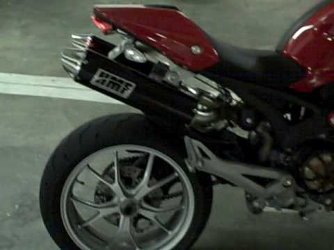 Ducati Monster 1100 with HMF exhaust and Competition Werkes Fender Eliminator Video