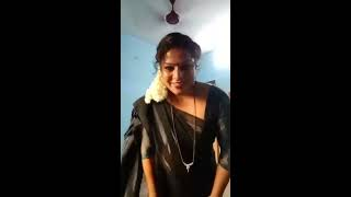 Dubai aunty hot and cute bedroom saree with husband