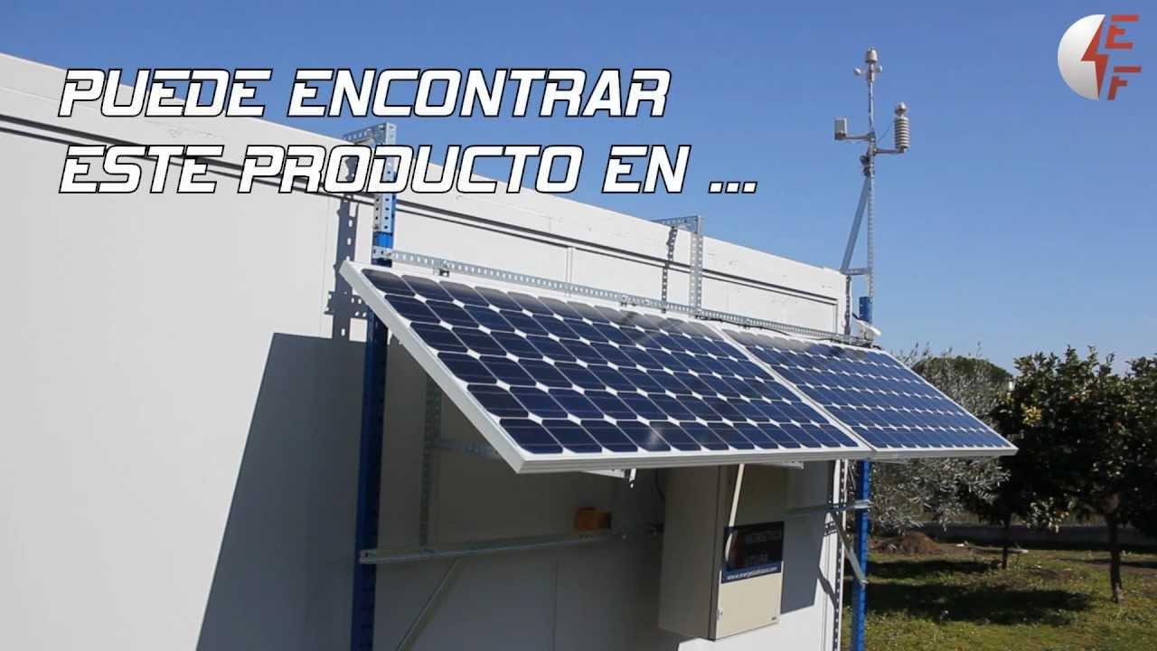 Kit solar fotovoltaico para autoconsumo 300w conectado a for Montar placas solares en casa