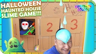 Halloween Haunted House Slime! Don't Choose the Wrong Door Challenge!
