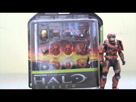 Halo Reach - Series 4 Rust Armor Pack Toysrus Exclusive Action Figure Review