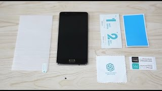 How to apply a screen protector for phone with 2.5D screen