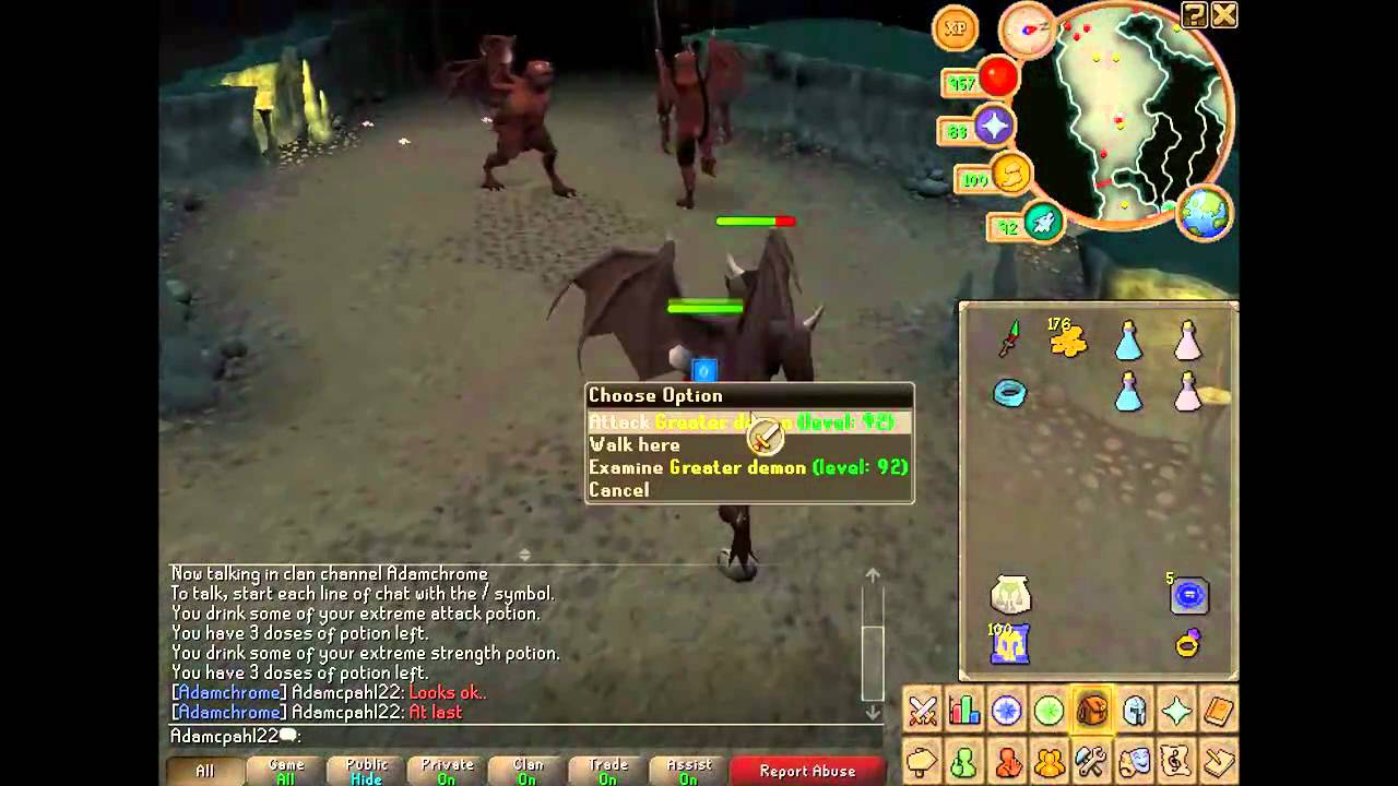Runescape Slayer Guide - Greater Demons [HD] - YouTube