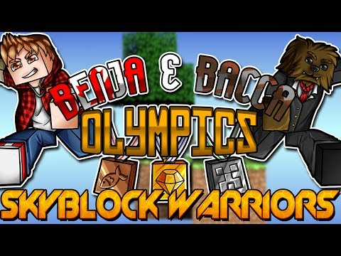 Minecraft: Benja & Bacca Olympics Game 2 - SkyBlock Warriors!