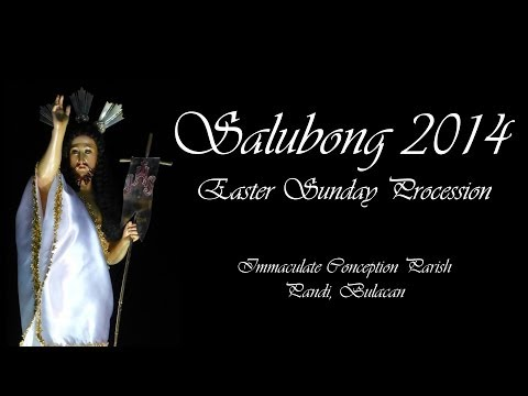 Salubong (Easter Sunday) Procession at Immaculate Conception Parish, Pandi, Bulacan