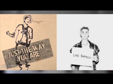 Justin Bieber Vs. Bruno Mars - Love Yourself (Just The Way You Are Mashup)