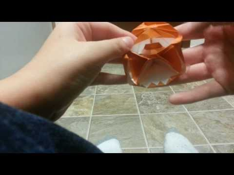 Origami Cyclops Jack'O'Lantern Pop-Up Card, Designed By Jeremy Shafer - Not A Tutorial