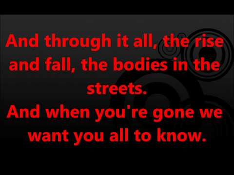 My Chemical Romance-Welcome to the Black Parade (Lyrics Video)