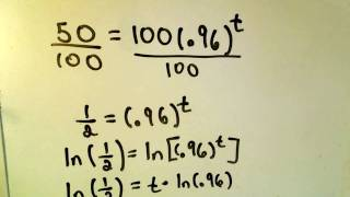 Exponential Decay / Finding Half Life