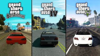 GTA 5 vs GTA 4 vs GTA San Andreas