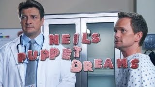 NEIL PATRICK HARRIS & NATHAN FILLION in DOCTOR'S OFFICE - Neil's Puppet Dreams