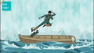 Rock Lee vs Might Guy - Ultimate Seasick Drunken Fist Mode!