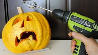 4 Awesome Life Hacks - HALLOWEEN Pumpkin Carving Hacks