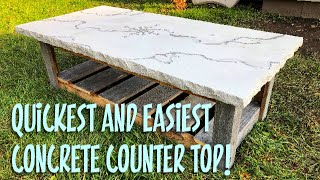 How to make a Concrete Counter Top in 1 hour!