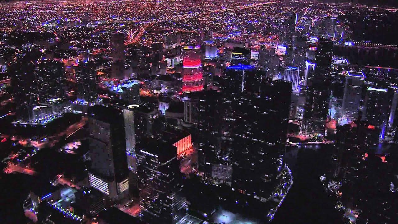 Miami Aerials Night Hd Stock Footage Best Shot