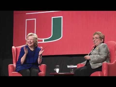 Hillary Rodham Clinton Talks Social Change at the University of Miami