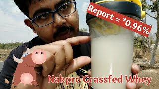Nakpro Grassfed Whey Protein Review with Lab report by 20KgDown