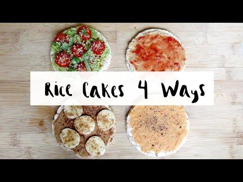 Rice Cakes 4 Ways (healthy snack food) | Delicious Nutrition