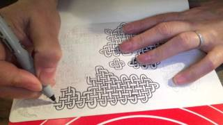 Sophie Draws - Celtic Knotwork (Speed Drawing, speed doodling, zoomorphics)